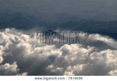 Aerial  Photography With Clouds