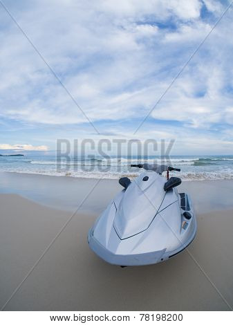 Jetski on the beach in Koh Samui