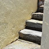 picture of sissi  - Stones staircase in Sissi on Crete Greece - JPG