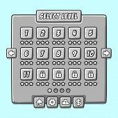 ������, ������: Stone game menu level interface ui panels