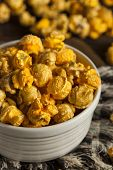 stock photo of mixture  - Chicago Style Caramel and Cheese Popcorn Mixture - JPG