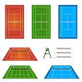 picture of deuce  - An Illustraton Set of Different Tennis Courts - JPG