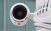 picture of rotor plane  - Engine of an Jet Airplane in Ground - JPG
