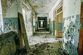 stock photo of nuclear disaster  - Abandoned House Interior In Chernobyl - JPG