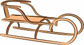 stock photo of luge  - vector illustration of a winter sled - JPG