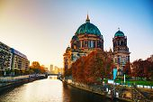 pic of dom  - Berliner Dom cathedral in Berlin Germany at sunrise - JPG