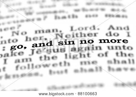 Scripture in New Testament in Bible Go and Sin No More