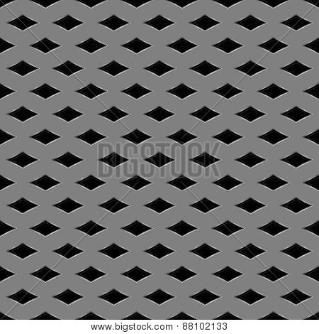 Metal grid seamless pattern