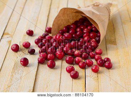 Cranberries in paper bag