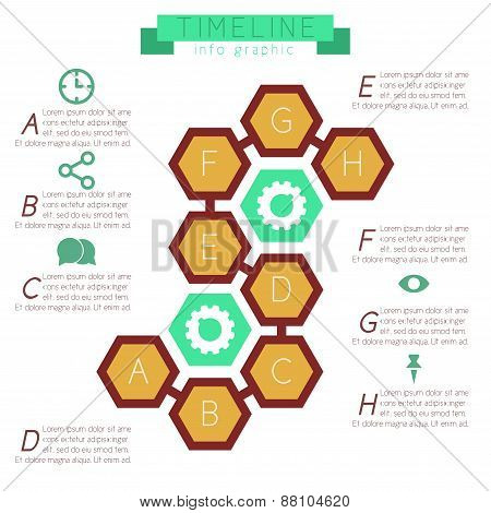 Infographics Honeycombs (hexagonal) With Footnotes.