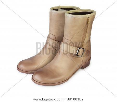 Female Brown Demi Boots