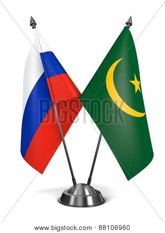 Russia and Mauritania - Miniature Flags.