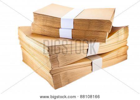 Stack  Paper Envelopes