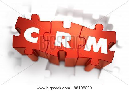 CRM - White Word on Red Puzzles.