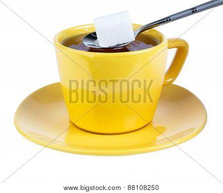 Adding Sugar To Tea