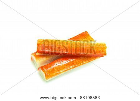 Crab Stick On White Background