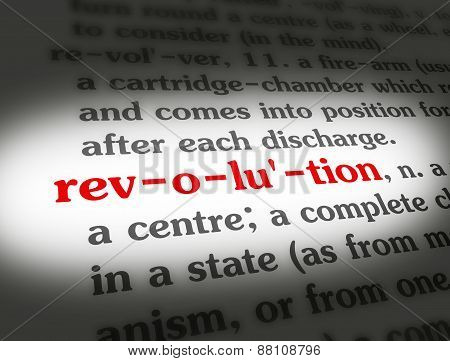 Dictionary Revolution Black On BG