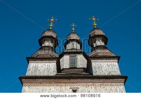Wooden Orthodox Temple in Ukraine