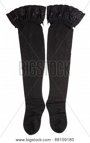 Pair Of Black Nylon Stocking