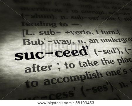 Dictionary Succeed Black On BG