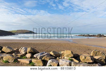 Challaborough South Devon England uk popular surfing beach near Burgh Island and Bigbury-on-sea