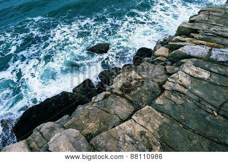 Dorset cliff drop