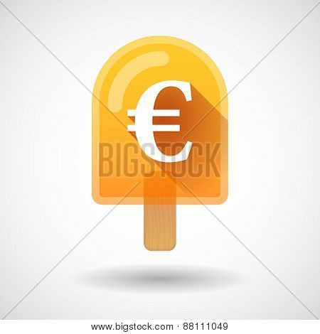Ice Cream Icon With An Euro Sign