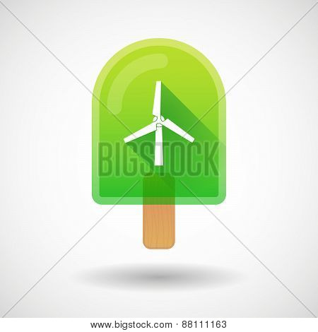 Ice Cream Icon With A Wind Generator