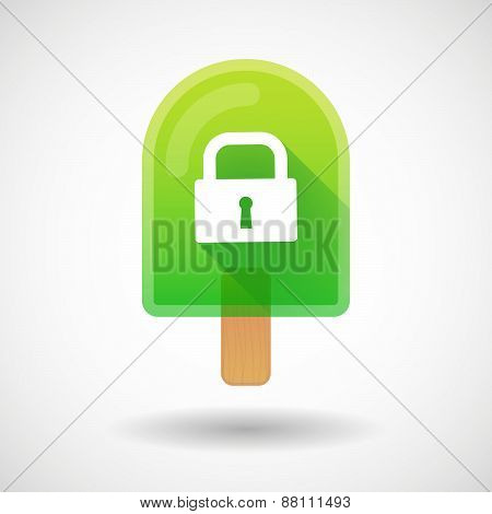 Ice Cream Icon With A Lock Pad