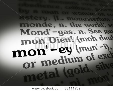 Dictionary Money