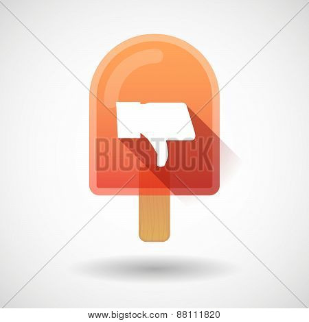 Ice Cream Icon With A Thumb Hand