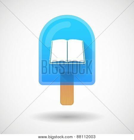 Ice Cream Icon With A Book