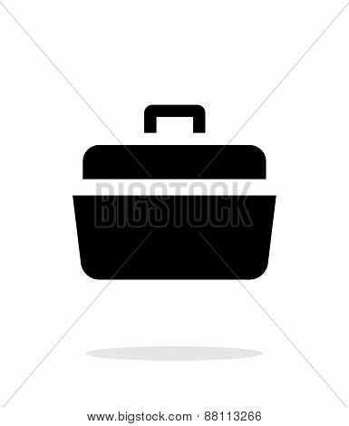 Open case simple icon on white background.