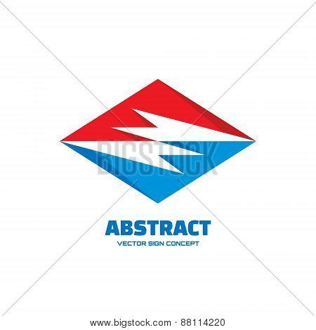 Abstract - vector logo concept illustration. Vector logo template. Design element.