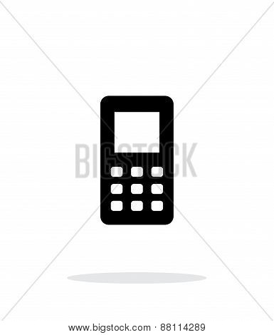 Mobile phone screen simple icon on white background.