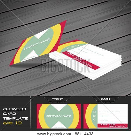 Buisness card template, editable vector design