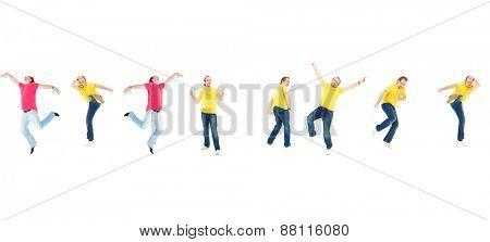 Win-Win Idea Crazy Jumping