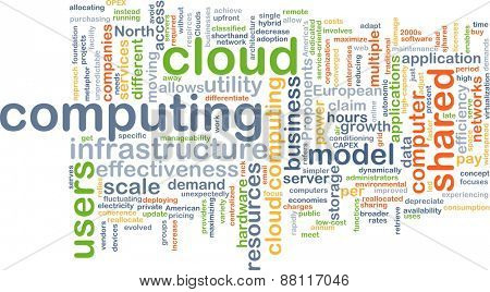 Background text pattern concept wordcloud illustration of cloud computing