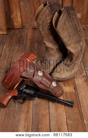 Revolver And Cowboy Boots