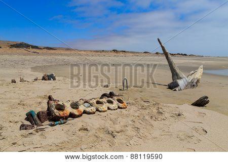 Shipwreck From Skeleton Coast