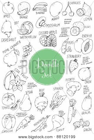 Big doodle set - Vegetables