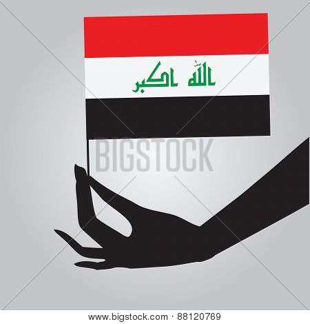 Hand With Iraq Flag