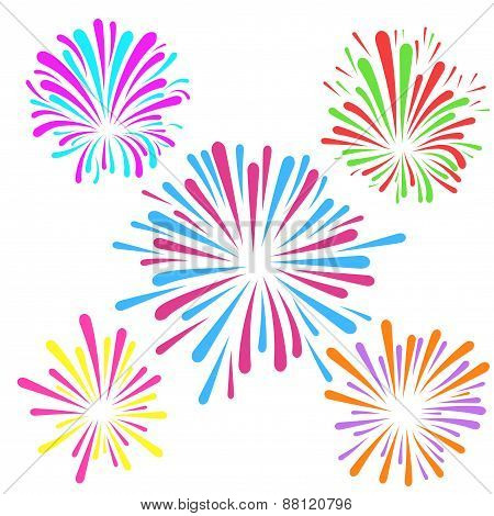 Festive Fireworks Pattern Template Layout