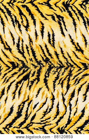 Texture Of Print Fabric Striped Tiger