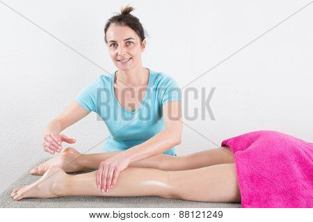 Ankle's massage at spa