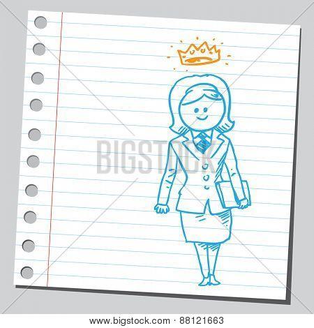 Businesswoman queen