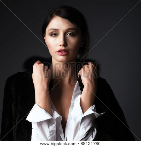 Portrait Of Cute Woman
