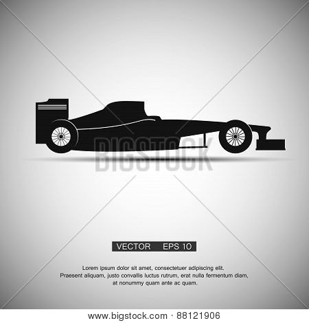the black symbol a formula 1, vector illustration