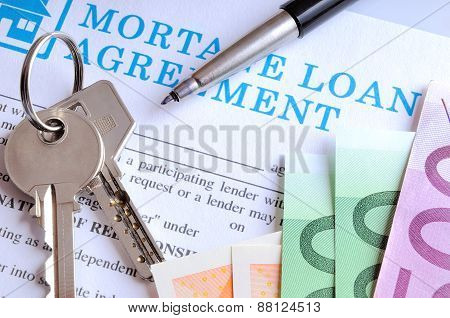 Payment And Receipt Of Keys And Mortage Loan Agreement