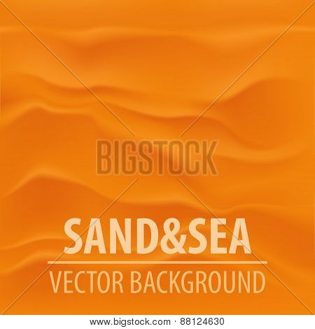 Vector sand summer travel background